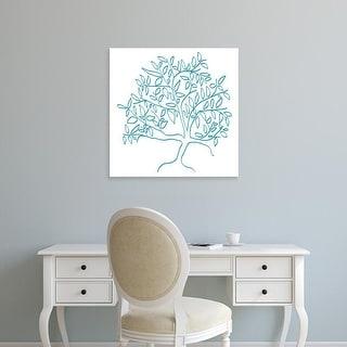 Easy Art Prints Jan Weiss's 'A Teal Tree' Premium Canvas Art