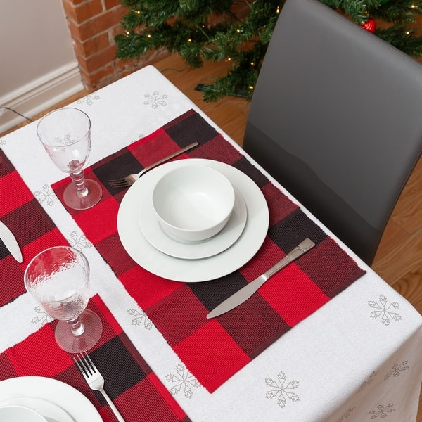Fabstyles Buffalo Check High Quality Cotton Placemats Set Of 4 13 X19 Overstock 32959909