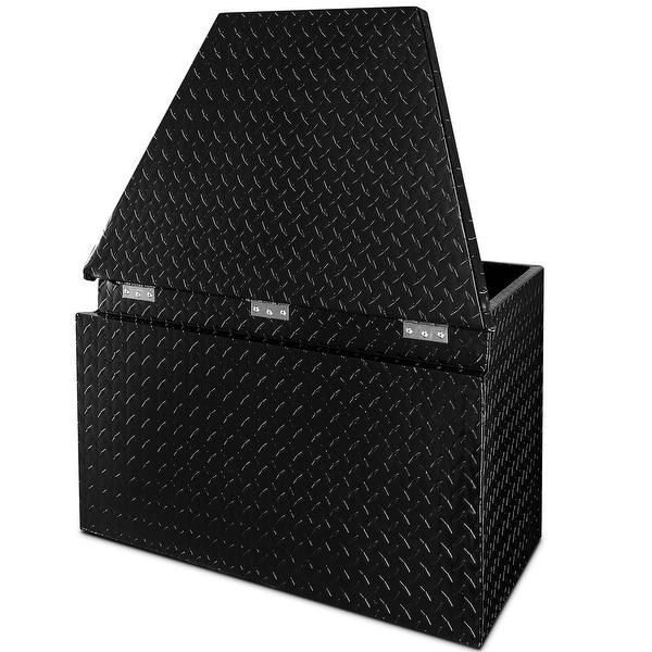 Arksen 33 Aluminum Pickup Truck Tool Box Storage Organizer Black Overstock 29804455