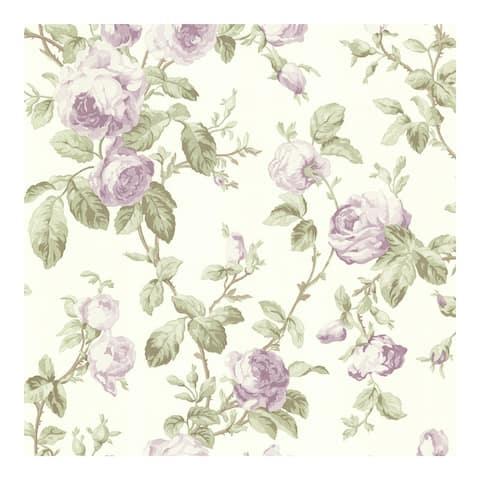Wilda Purple Roselle Trail Wallpaper - 396in x 20.5in 0.25in