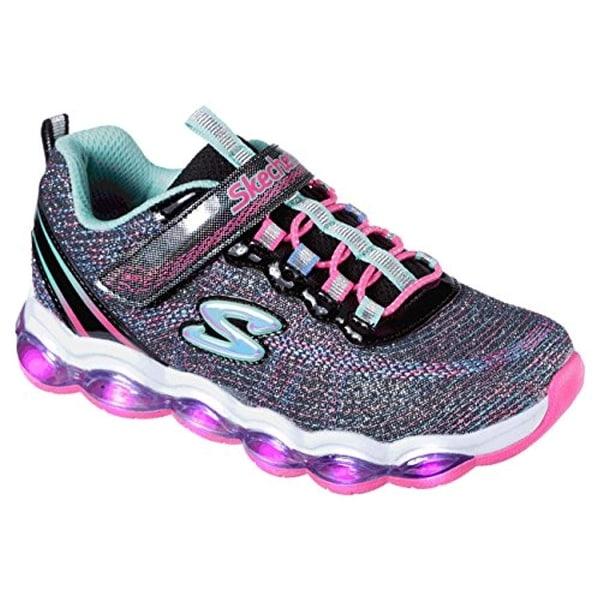 Girls' Glimmer Lights Sneaker, Black