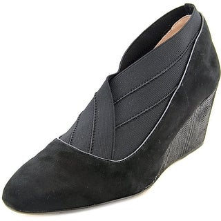 Taryn Rose Kikoriki Open Toe Suede Wedge Heel
