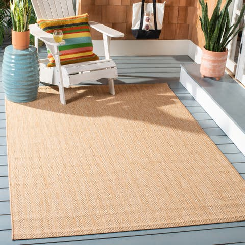 SAFAVIEH Courtyard Carolann Indoor/ Outdoor Patio Backyard Rug