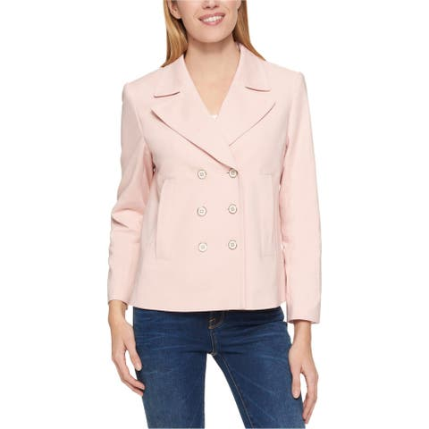 Tommy Hilfiger Womens Double Breasted Jacket, Pink, X-Large