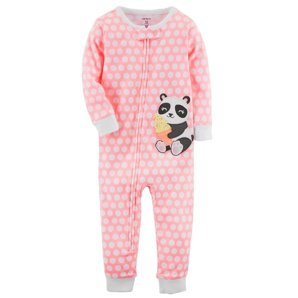 a73086375 Shop Carter s Little Girls  1-Piece Neon Panda Snug Fit Cotton ...