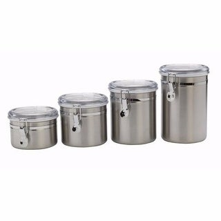 """""""Anchor Hocking Stainless Steel Clamp Canister Set Cannister Set"""""""