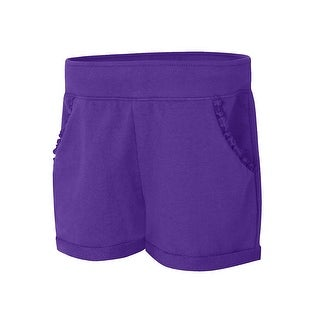 Hanes Girls' Ruffle Pocket Short - Size - M - Color - Purple Crush