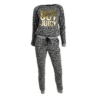 Juicy Couture Black Label Womens Juniors Modal Blend Animal Print Romper - XL