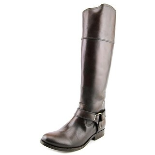 Frye Melissa Harness Zip Round Toe Leather Knee High Boot