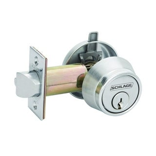 Schlage B250R B250 Series Commercial Grade 2 Single Cylinder Deadlatch with Full Size Interchangeable Core - Satin Chrome