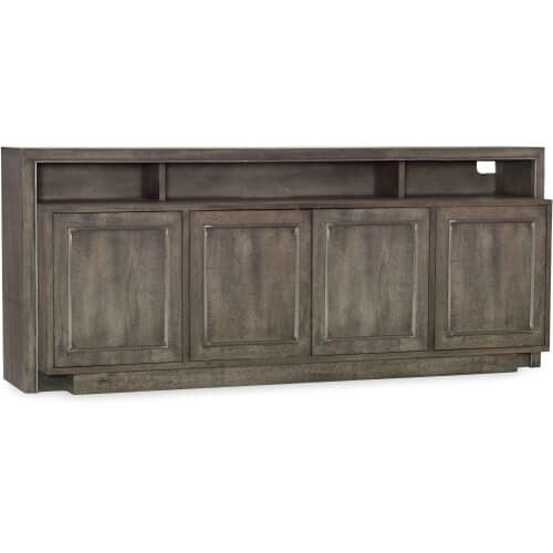 Hooker Furniture 5607 55472 GRY 72 Inch Wide Mango Wood Media Cabinet   N