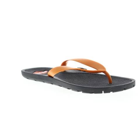 Harley-Davidson Mills Orange Mens Flip-Flops Sandals
