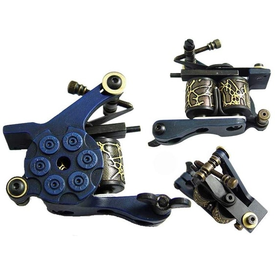 Afterlife Custom Irons Tattoo Machine Shader 1-Wrap Coils - Blue