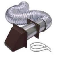 "Lambro 1365B Preferred Dryer Hood Vent Kit, 4"" x 5', Brown"