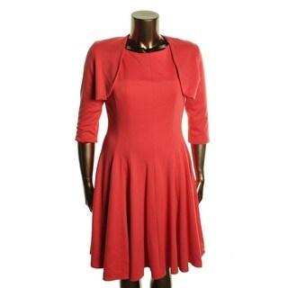 B Michael Womens Sleeveless Flared Dress With Jacket - 4