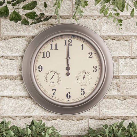 Nature Spring Clock Thermometer Hygrometer