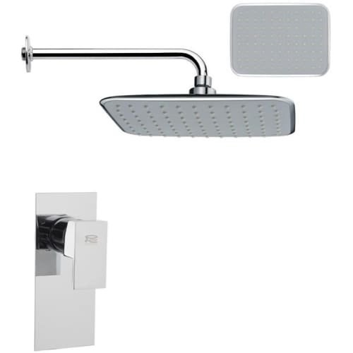 Nameeks SS1160 Remer 2.8 GPM Single Function Rain Shower Head with Valve Trim Rough In Included - Chrome