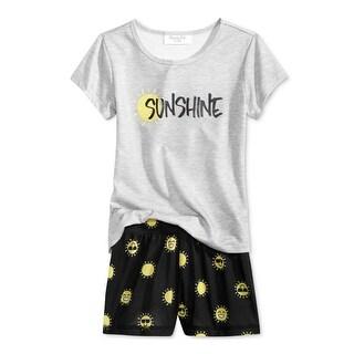 Family PJs Girls Sunshine Pajama Set Graphic