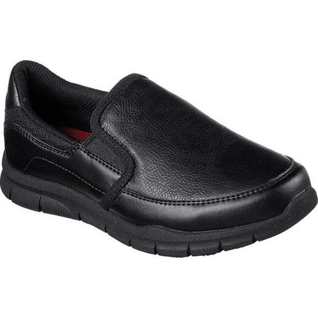 Skechers Women's Work Relaxed Fit Nampa Annod Slip Resistant Shoe Black