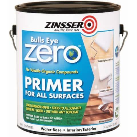 Zinsser Bullseye Zero Interior & Exterior Primer/Sealer, 1-Gallon