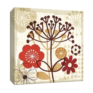 """PTM Images 9-152410  PTM Canvas Collection 12"""" x 12"""" - """"Floral Pop II"""" Giclee Flowers Art Print on Canvas"""