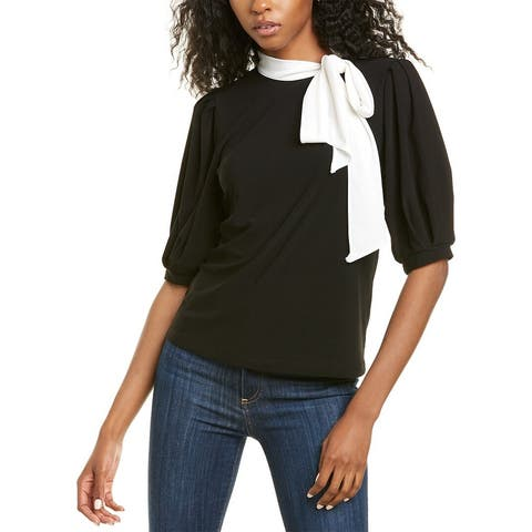 Cece By Cynthia Steffe Puff-Sleeve Crepe Top