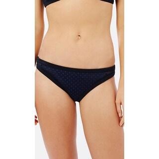 Seafolly NEW Blue Black Womens Size 8 Perforated Scuba Bikini Bottom
