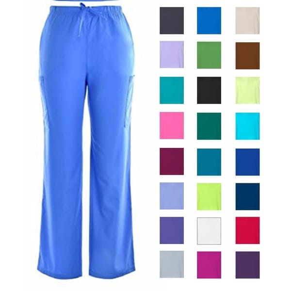 Unisex Scrub Cargo Pants DSF Medical Uniform Men Women 836