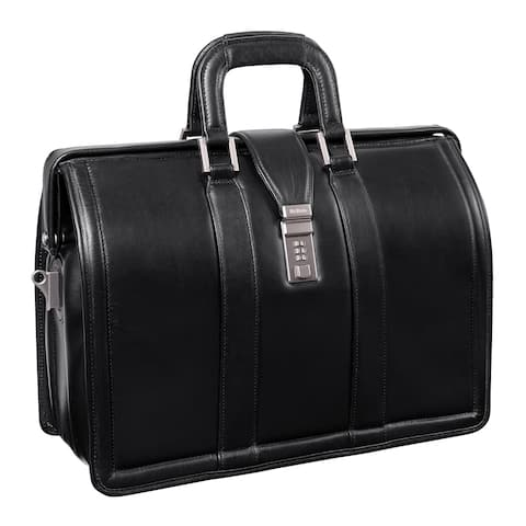 McKlein Morgan Black Litigator 17-inch Laptop Briefcase