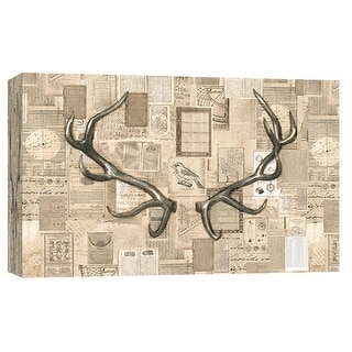 "PTM Images 9-102003  PTM Canvas Collection 8"" x 10"" - ""Academic Antler Illustration"" Giclee Antlers Art Print on Canvas"