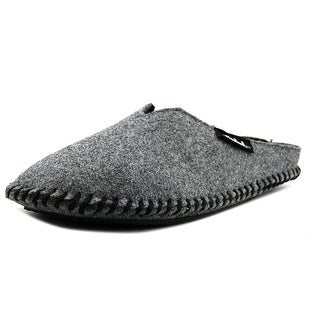 Woolrich Mill Scuff Felt Slide Slippers  Men  Round Toe Canvas Gray Slipper