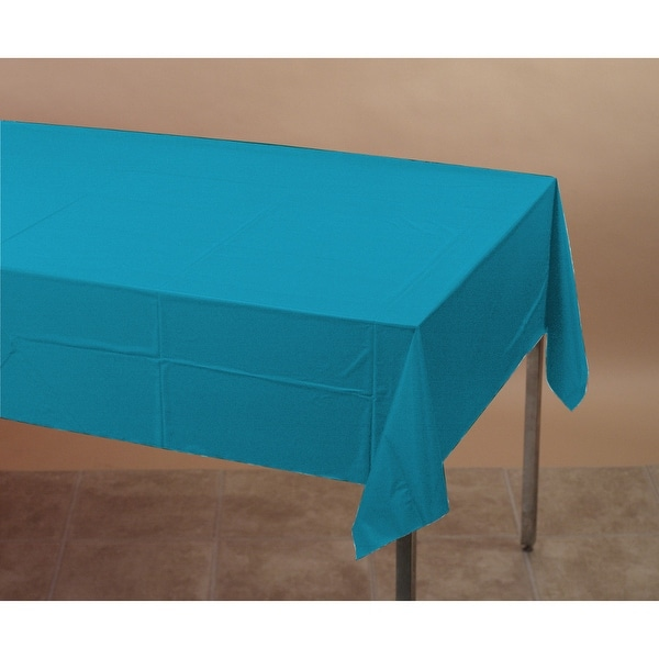 Touch Of Color Plastic Table Cover 54x108 Turquoise - Multi