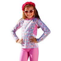 Sun Emporium Girls Milkshake Pink Long Sleeve Rash Guard