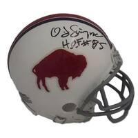 OJ Simpson Autographed Buffalo Bills TB 6573 Mini Helmet HOF JSA