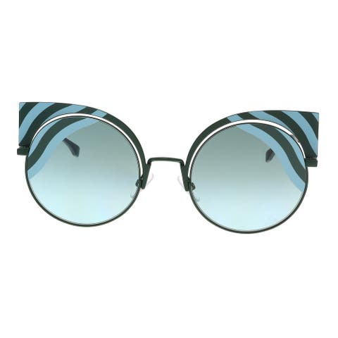 FENDI FF 0215/S 00KC- EQ Teal Cat eye Sunglasses - 53-22-135