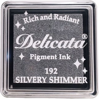 Delicata Small Pigment Inkpad-Silvery Shimmer