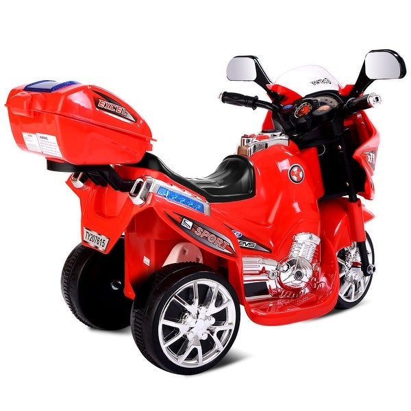3 Wheel Kids Ride Motorcycle 6V Battery Powered Electric Toy Power Bicycle Red