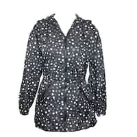 ShedRain Women's Packable Fashion Polka-Dot Print Anorak Rain Jacket