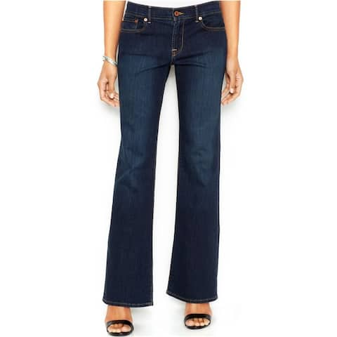 Lucky Brand Womens Embroidered Boot Cut Jeans