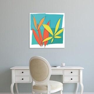 Easy Art Prints Jan Weiss's 'Grasses I' Premium Canvas Art