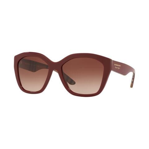 Burberry BE4261F 383513 57 Bordeaux Woman Irregular Sunglasses