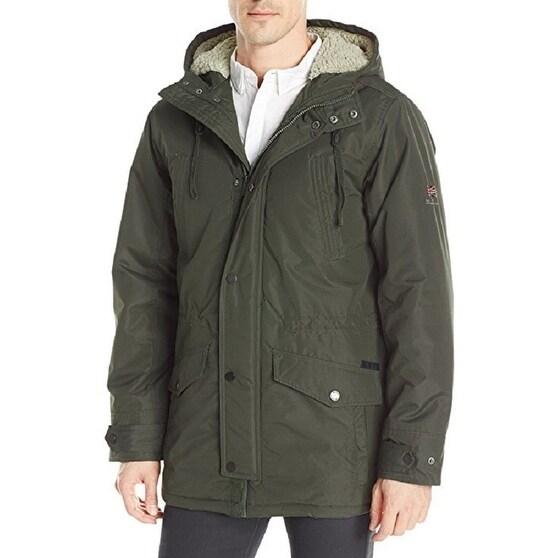 Shop Ben Sherman Men S Sherpa Hood Parka On Sale Free