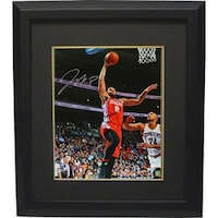41082677 Jahlil Okafor signed Philadelphia 76ers 16x20 Photo Custom Framed red jersey  layup vs Cavaliers