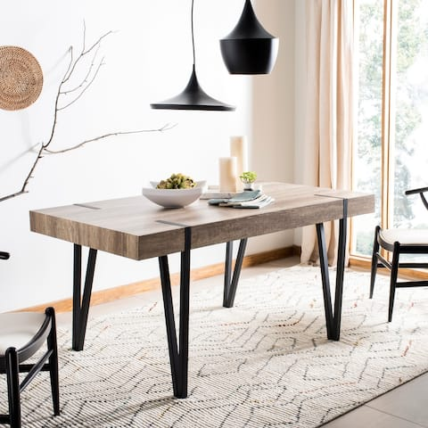 "Safavieh Alyssa Brown Rustic Mid-Century Dining Table - Multi - 59.1"" x 35.4"" x 29.5"" - 59.1"" x 35.4"" x 29.5"""