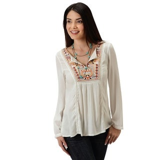 Roper Shirt Womens Spice Girls Button Embroidery 03-050-0565-6063 WH