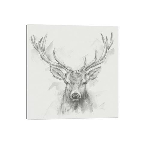"""iCanvas """"Contemporary Elk Sketch I"""" by Ethan Harper Canvas Print"""