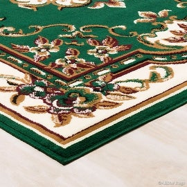 "Allstar Green Woven High Quality Rug. Traditional. Persian. Flower. Western. Design Area Rug (3' 9"" x 5' 1"")"