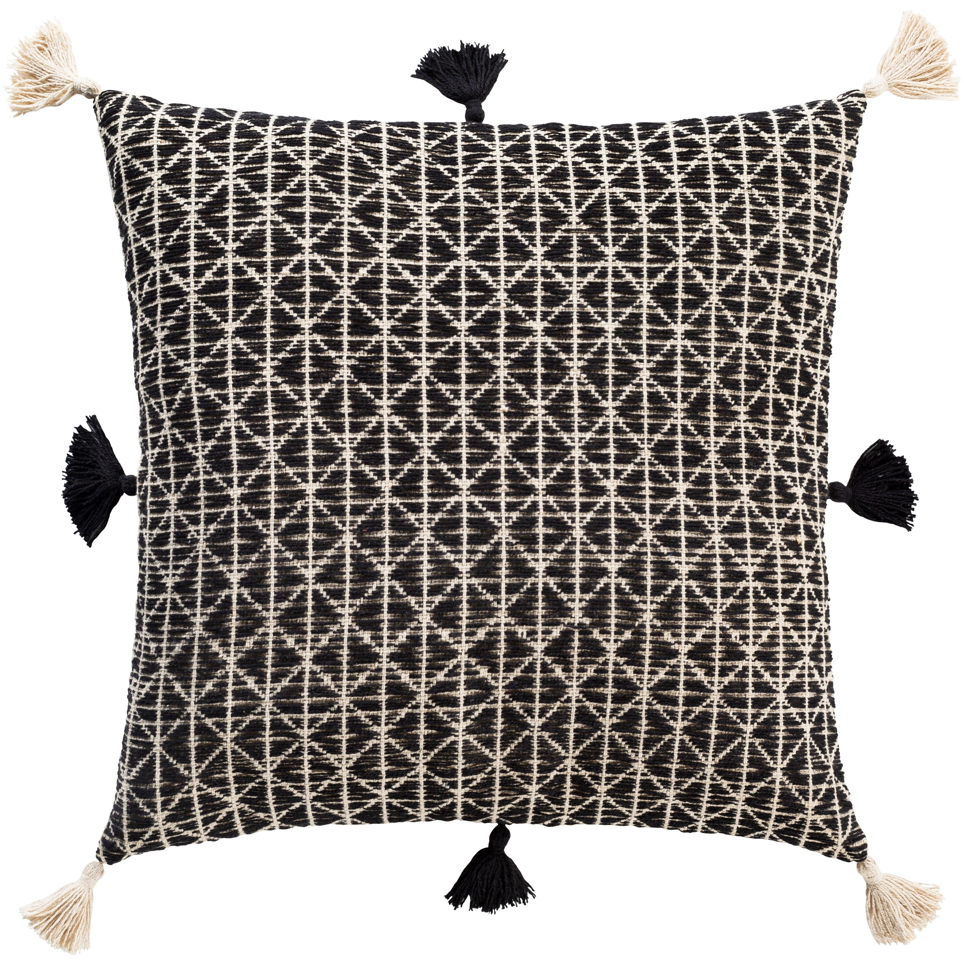 Gene Bohemian Cotton 20 Inch Poly Or Feather Down Throw Pillow Overstock 29796330