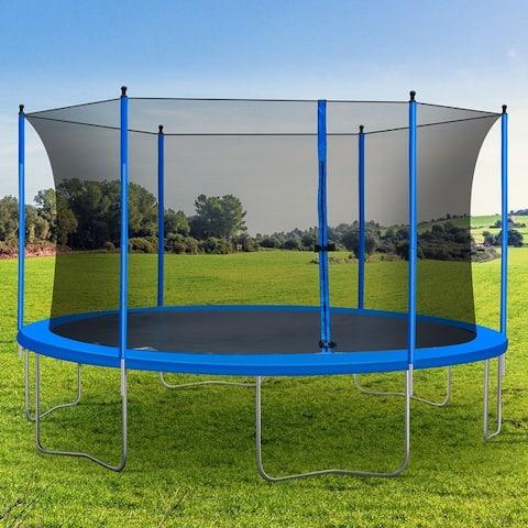 TiramisuBest 13FT Round Trampoline with Safety Enclosure