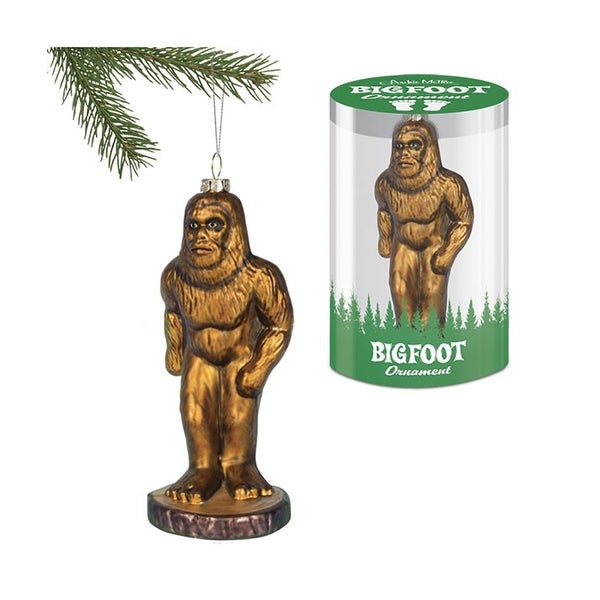 Big Foot Glass Ornament